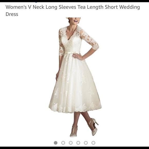 f30ac6c469cf8 Dresses | Wedding Dress Size 12 Tea Length | Poshmark